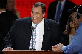 chris christie laughing