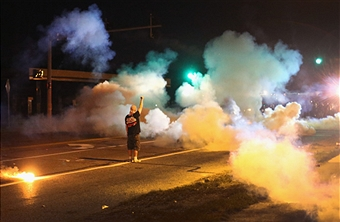 <> on August 13, 2014 in Ferguson, Missouri.