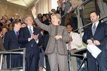 Hillary Clinton waving